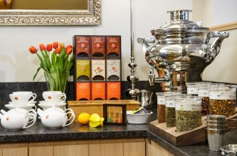 Coffee and tea station in your room